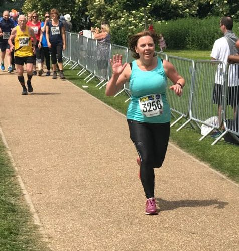 Cheryl storms her second half marathon of the year